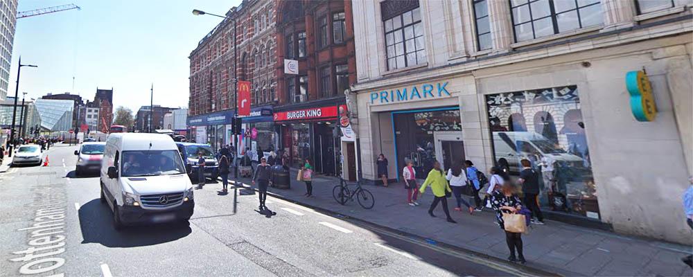 Calle Tottenham Court Road